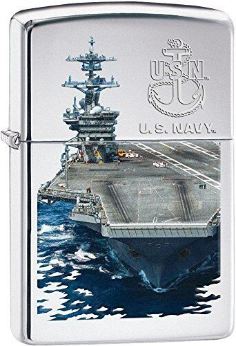 Zippo Windproof U.S. Navy Lighter With Aircraft Carrier, # 28931, New In Box