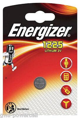 4 x Energizer  Batterie BR 1225 Lithium 3V Knopfbatterie CR 1225 Battery Blister Energizer Lithium-batterien