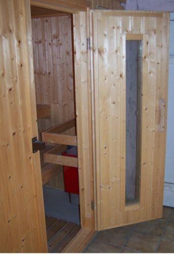 massivholzsauna saunen ebay. Black Bedroom Furniture Sets. Home Design Ideas
