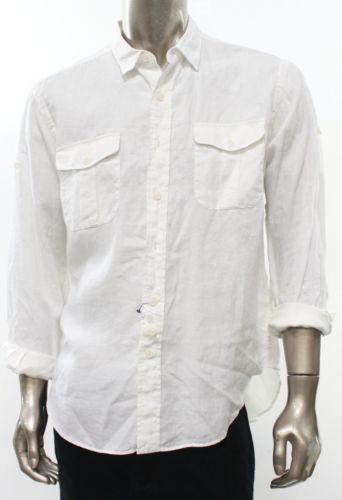 Mens Linen Shirts Long Sleeve
