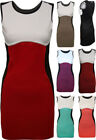 Polyester Party/Cocktail Colour Block Dresses for Women