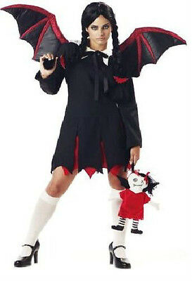 BAT GIRL GOTH COSTUME Mayhem Mansion Teen Juniors 3-5 Halloween Dark Scary NEW - Teen Steampunk Costume