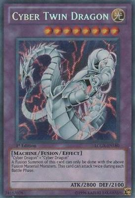 3x (M/NM) Cyber Twin Dragon - SDCR-EN037 - Ultra Rare - 1st Edition  YuGiOh