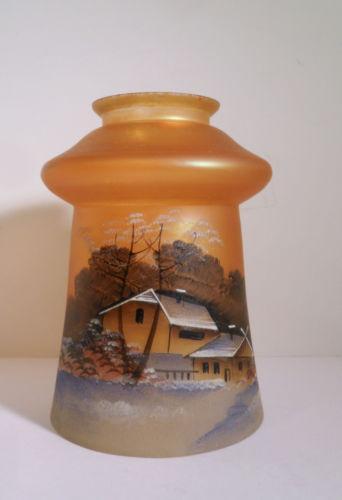 Fenton Hand Painted Lamp Ebay