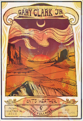 Gary Clark Jr. and Into Weather 2012 Fillmore SF Poster F1190 11/16/2012