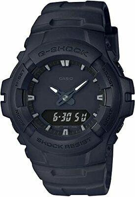 Casio Men's G-SHOCK Analog-Digital Sport Black Band G-100BB-1A