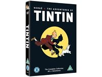 DVD - THE ADVENTURES OF TINTIN - 5 DVDS - THE COMPLETE COLLECTION ALL 21 ADVENTURES