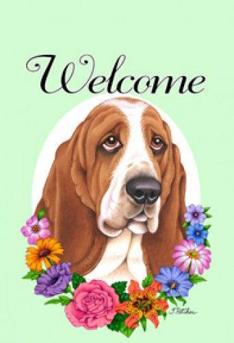 Welcome Garden Flag - Basset Hound 630211