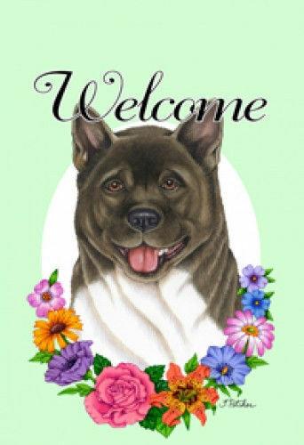 Welcome Garden Flag - Akita 630981