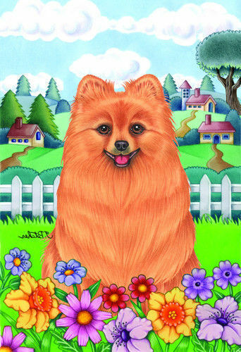 Spring Garden Flag - Pomeranian 730131