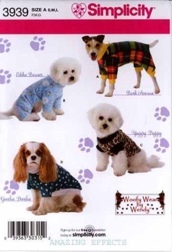 Dog Clothes Patterns EBay Cool Dog Jacket Pattern