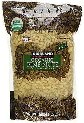 7 PACKS KIRKLAND ORGANIC PINE NUTS EACH  1.5 lbs  FREE EXPEDITED SHIPPING