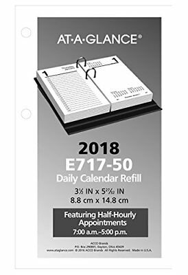 At A Glance Desk Calendar Refill 3 1 2 X 6 White 2018 E71750