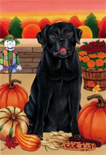 Autumn (TP) House Flag - Black Labrador Retriever 67001