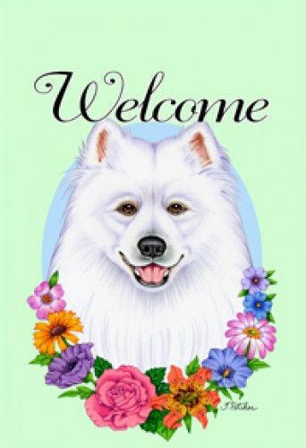 Welcome Garden Flag - Samoyed 63077