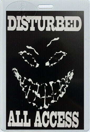 DISTURBED 2000-2001 Tour Laminated Backstage Pass All Access