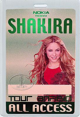 SHAKIRA 2000 Anfibio Tour Laminated Backstage Pass The Voice