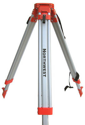 Northwest Aluminum Quick Clamp Survey Contractor Tripod For Transit Laser Nat83