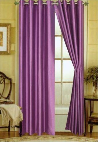 Purple Silk Curtains Ebay