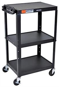 Mobile Projector Cart with power slots (71cm X 71cm X 121cm)