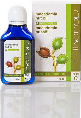 Hydrating Macadamia-Öl (PURE Macadamia Oil Natural Anti ageing, stretches, hydrating IKAROV 30ml/1oz)