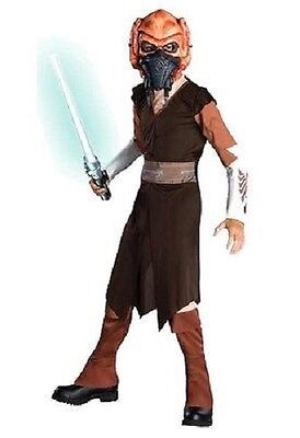 Star Wars Plo Koon Clone Wars Jedi Knight Master Halloween Child Costume w/Mask - Plo Koon Costume