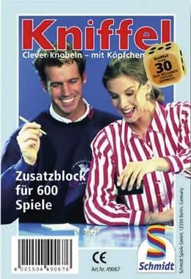 Schmidt Spiele Kniffelblock für 600 Spiele Zusatzblock Knobelblock  Ersatzblock online kaufen