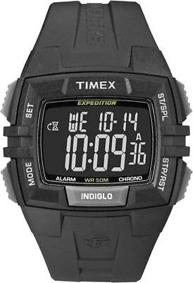 Timex T49900, Men's Expedition Black Resin Watch, Alarm, Indiglo, Chronograph