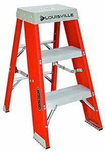 Louisville Fiberglass Step Ladder FY8003 - Brand New