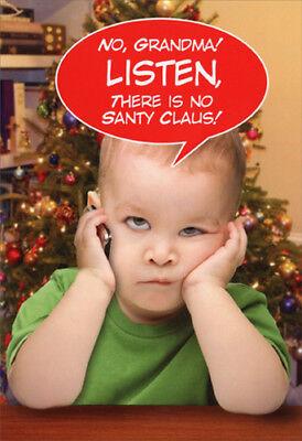 Listen Grandma Funny Nobleworks Christmas Card - Funny Grandma Cards