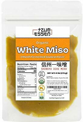White Miso Paste 3 Month Fermented In a Resealable Package. USDA Organic, 6 oz