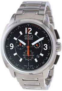 esq movado mens watch esq movado men s 07301415 excel steel chrono black dial watch