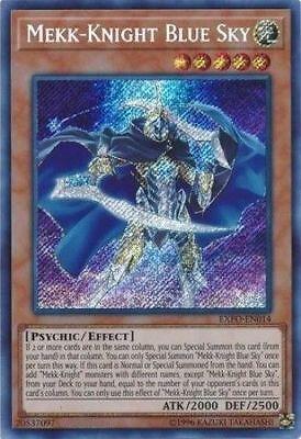 Mekk Knight Blue Sky     Secret Rare Exfo En014 Yugioh  Mint Nm