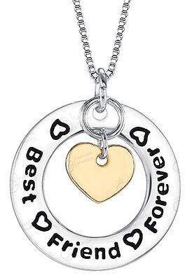 Birthday Christmas Friend Gift Girl's Women's Necklace Heart Best Friend Foreve (Best Birthday Gift For Best Friend Girl)