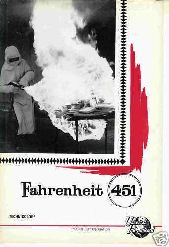 François TRUFFAUT Julie CHRISTIE Oskar WERNER French Pressbook FAHRENHEIT 451