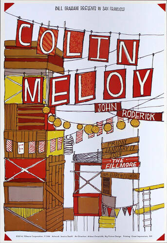 Colin Meloy John Roderick Fillmore SF 1/17/2014 Poster F1244 The Decemberists