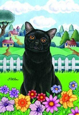 Spring Garden Flag - Black Cat 76011