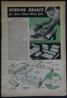 12 Sheet Metal Bending Brake Box And Pan Howto Build Plans