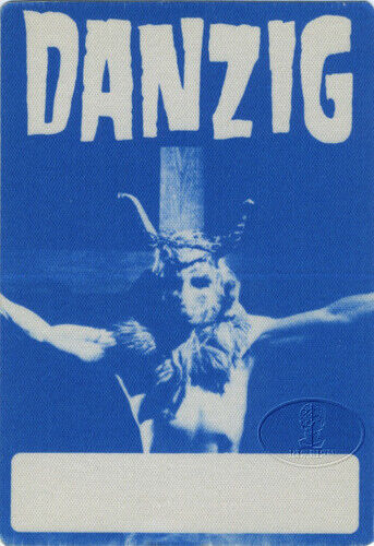 DANZIG 1990 Lucifuge Backstage Pass Blue