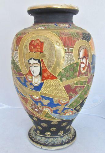 Japanese Satsuma Moriage Vase Ebay