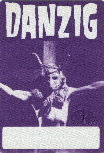 DANZIG 1990 Lucifuge Backstage Pass Purple