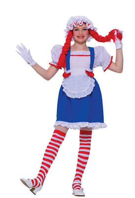 Raggedy Ann Rag Doll Girl Kids Halloween Costume - Rag Doll Costume Kids
