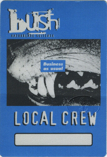 BUSH 1996 RAZORBLADE SUITCASE Backstage Pass Crew blue