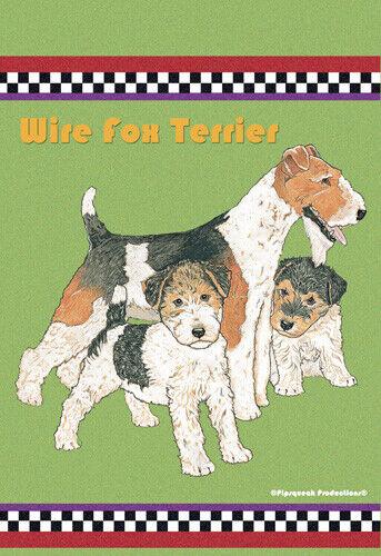 Fox Terrier Wire Garden Flag