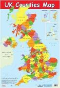 Laminated UK Map