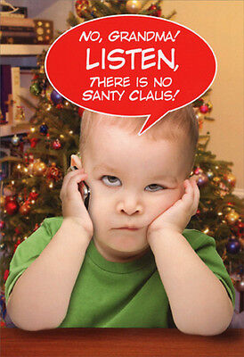 Listen Grandma - Box of 12 Funny Christmas Cards by Nobleworks - Funny Grandma Cards