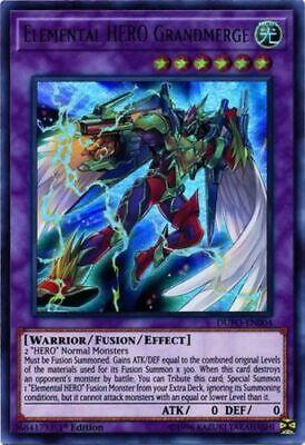 Yugioh Elemental HERO Grandmerge DUPO-EN004 1st Ultra Rare Near Mint Fast Shippi