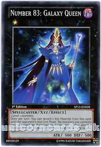 SP13-EN028 Number 83: Galaxy Queen 1st Edition Mint YuGiOh Card