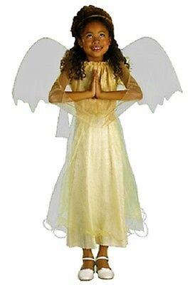 girls small 4-5 golden CHRISTMAS ANGEL costume w/ wings halo 4 5 FREE SHIPPING
