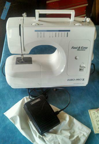 Euro Pro Sewing Machine EBay Inspiration Euro Pro Denim And Silk Sewing Machine